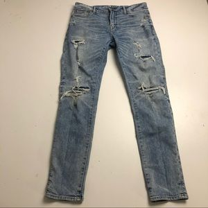 American Eagle Distressed Athletic Skinny Jeans